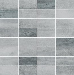 O FLOORWOOD GREY-GRAPHITE MIX MOSAIC 29X29,5 G.1